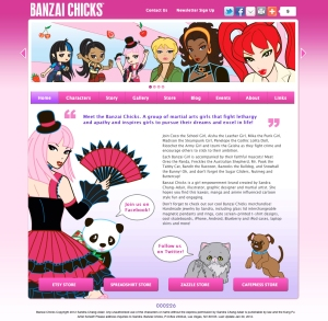 Banzai Chicks Website