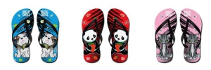 Banzai Chicks Flip-Flops on CafePress
