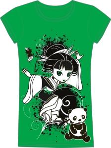 Izumi the Geisha Chibi and Panda Tee