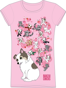 Kawaii Banzai Chicks Mascot T-Shirt
